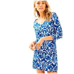Lilly Pulitzer Cori Resort Ikat Print Dress Sz. L